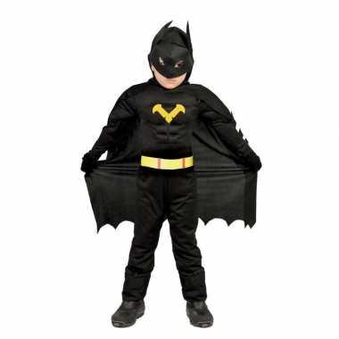 Gespierde vleermuisheld zwart verkleedkleren voor jongens