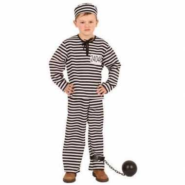 Gestreept gevangene verkleedkleren kinderen
