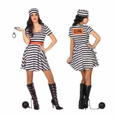 Gevangene/boef bonnie verkleedkleren/jurk voor dames