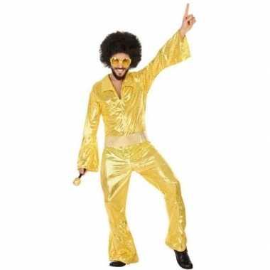 Gouden disco verkleed pak/verkleedkleren voor heren