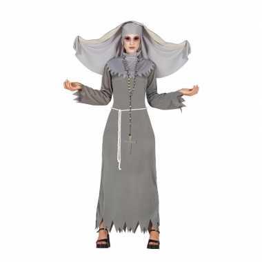 Grijze geest nonnen verkleedkleren voor dames