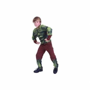 Groen gespierd monster verkleedkleren voor kids