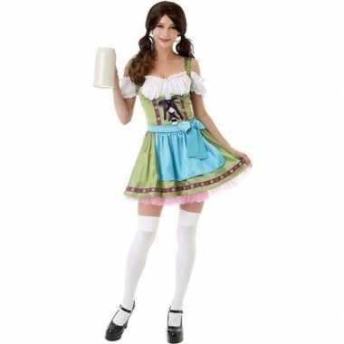 Groen oktoberfest jurkje/dirndl verkleedkleren voor dames