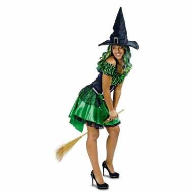 Groene heks alexia verkleedkleren/jurk voor dames
