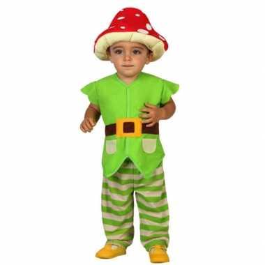 Groene kabouter verkleedkleren voor peuters
