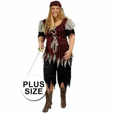 Grote maat dames piraten verkleedkleren