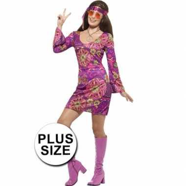 Grote maat feest hippie verkleedverkleedkleren voor dames