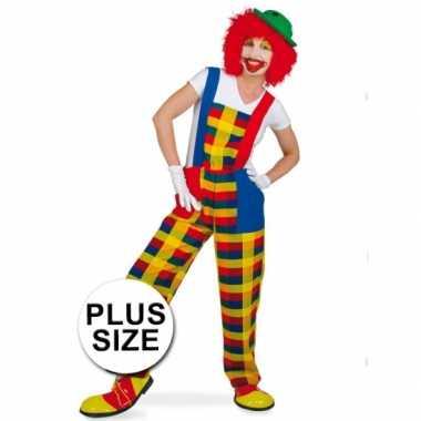 Grote maten clown pebbi verkleedverkleedkleren voor volwassenen