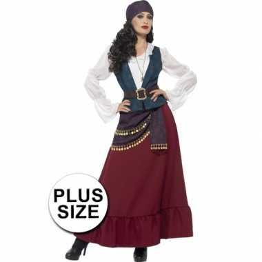 Grote maten feest piraat verkleedverkleedkleren voor dames