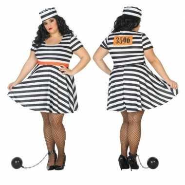 Grote maten gevangene/boef bonnie verkleedkleren voor dames