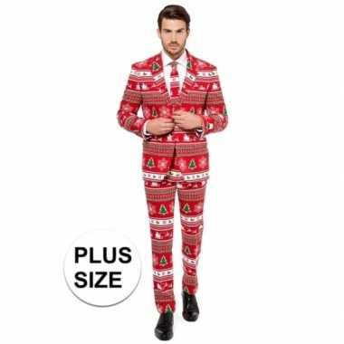 Grote maten heren verkleedkleren met kerstboom print