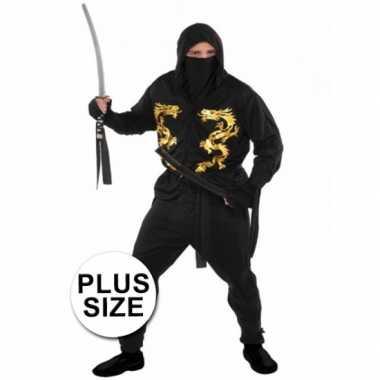 Grote maten ninja verkleedkleren voor heren