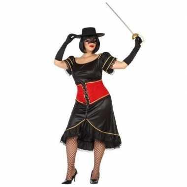 Grote maten spaanse gemaskerde vrouw verkleedkleren voor dames
