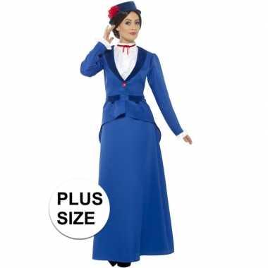 Grote maten victoriaanse kinderjuffrouw verkleedkleren voor dames