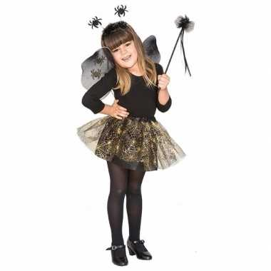 Halloween halloween verkleedkleren heksenset zwarte spin voor meisjes