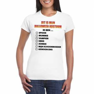 Halloween halloween verkleedkleren lijstje t shirt wit dames