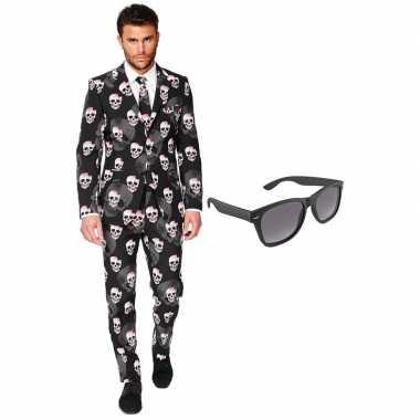 Halloween heren verkleedkleren maat 56 (xxxl) met gratis zonnebril