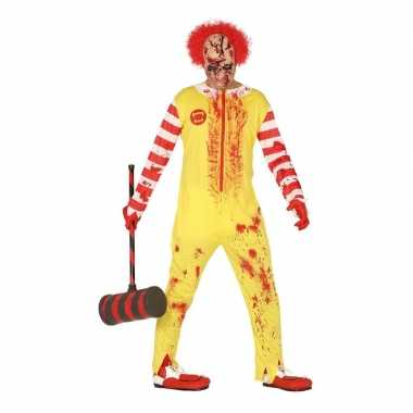 Halloween horror clown ronald verkleedkleren voor heren