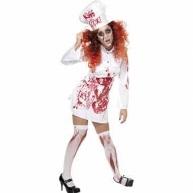 Halloween koks verkleedkleren met bloed