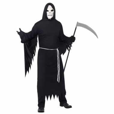 Halloween verkleedkleren magere hein met masker voor volwassenen