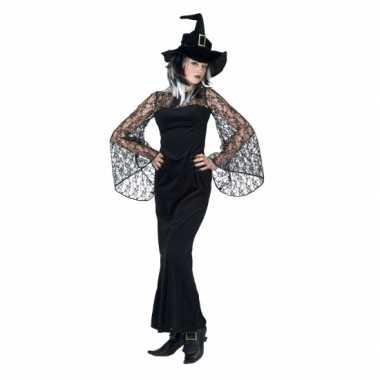 Halloween verkleedkleren zwarte heks