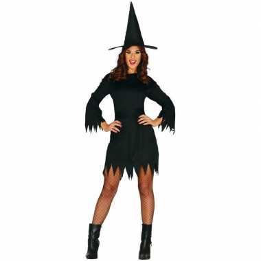 Halloween zwart heksen verkleedkleren budget voor dames