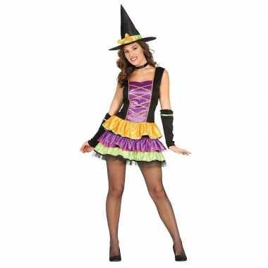 Halloween zwart heksen verkleedkleren voor dames