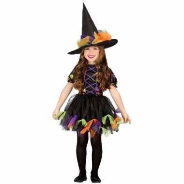 Halloween zwart heksen verkleedkleren voor meisjes