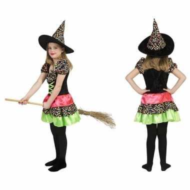 Heksen verkleedkleren jurk incl. hoed
