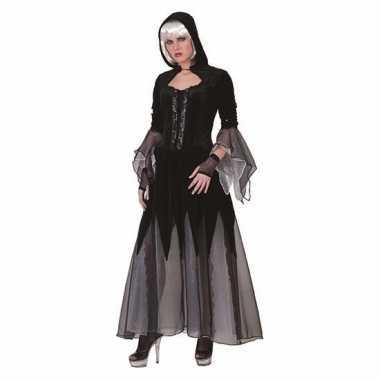 Heksen verkleedkleren jurk zwart