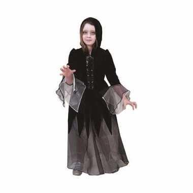 Heksen verkleedkleren jurkje zwart