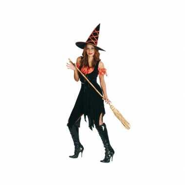 Heksen verkleedkleren zwart oranje