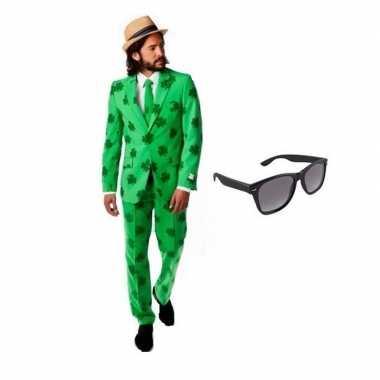Heren verkleedkleren sint patricks day maat 48 (m) met gratis zonnebr