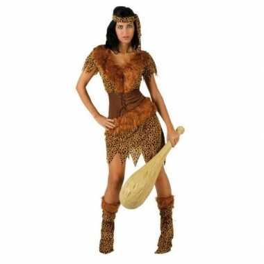 Holbewoonster/cavewoman ayla verkleedkleren/jurk dames