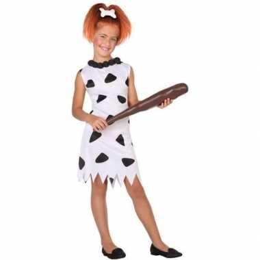Holbewoonster/cavewoman wilma verkleedkleren/jurk voor meisjes