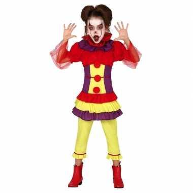 Horror clown penny verkleedkleren voor meisjes