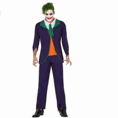 Horrorclown verkleedkleren joker voor heren