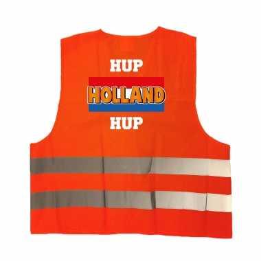 Hup holland hup oranje veiligheidshesje ek / wk supporter verkleedkleren voor volwassenen