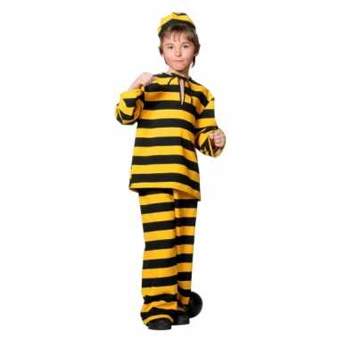 Inbreker verkleedkleren zwart/geel voor kinderen