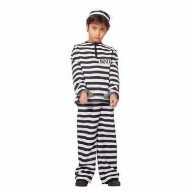 Inbreker verkleedkleren zwart/wit voor kinderen
