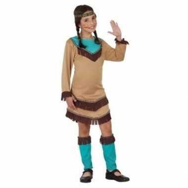 Indiaan chinouk verkleedkleren voor meisjes blauw