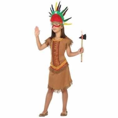 Indiaan/indianen jurk/jurkje verkleedkleren voor meisjes
