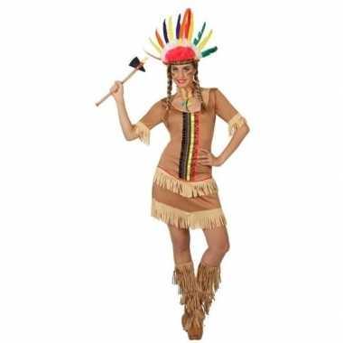 Indianen manipi verkleed jurkje/verkleedkleren voor dames
