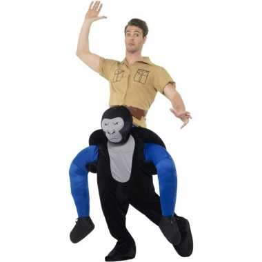 Instap dierenpak verkleedkleren gorilla voor volwassenen