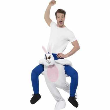 Instap dierenpak verkleedkleren konijn/haas voor volwassenen