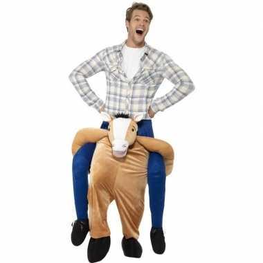 Instap dierenpak verkleedkleren paard voor volwassenen