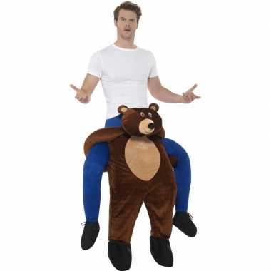 Instap dierenverkleedkleren beer voor volwassenen