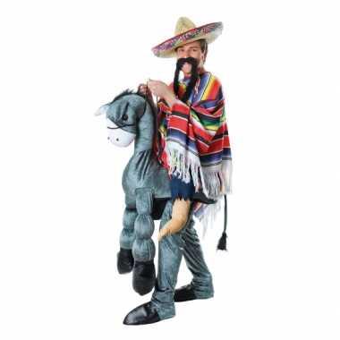 Instap verkleedkleren mexicaan op ezel