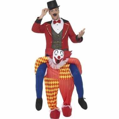 Instapverkleedkleren circus clown voor volwassenen