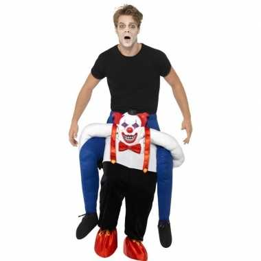 Instapverkleedkleren enge horror clown voor volwassenen